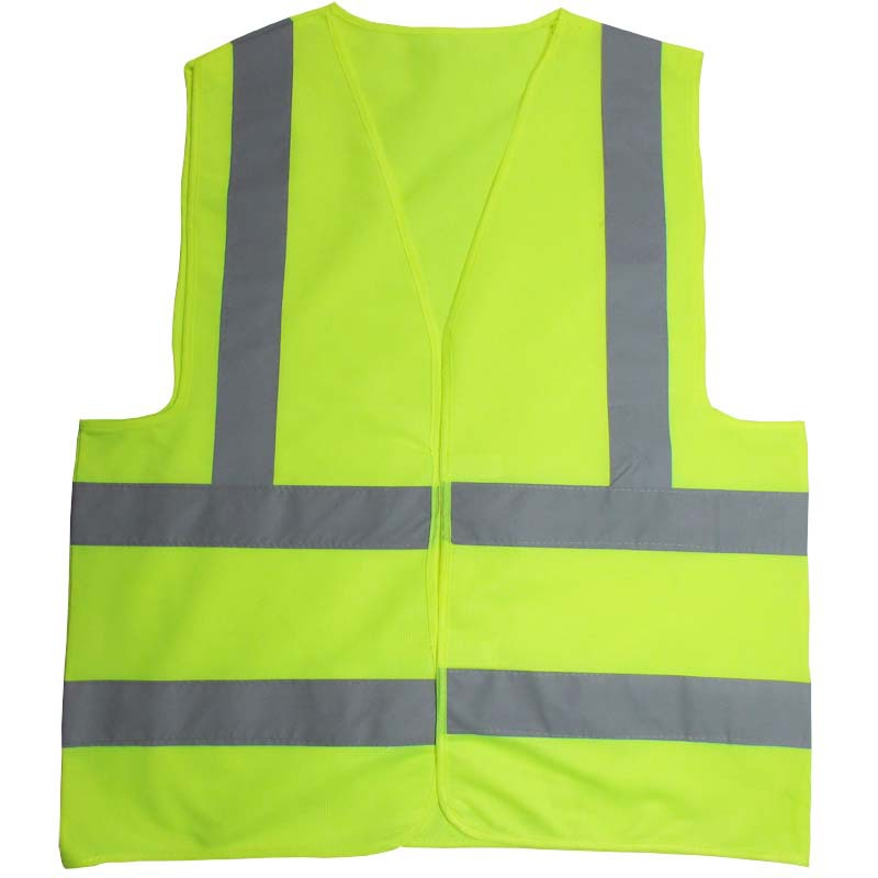 Green orange Safety Vest with Reflective Strips ANSI/ISEA Medium maritime safety
