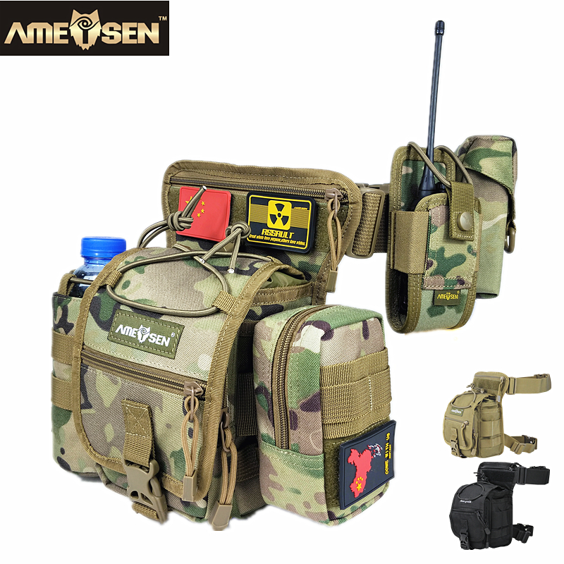где купить excellent quality Tactics Drop Leg Bag Hip Bum Army Multi-purpose Tactics Assault Waist Pack Male Outdoor Adventure A4849 дешево