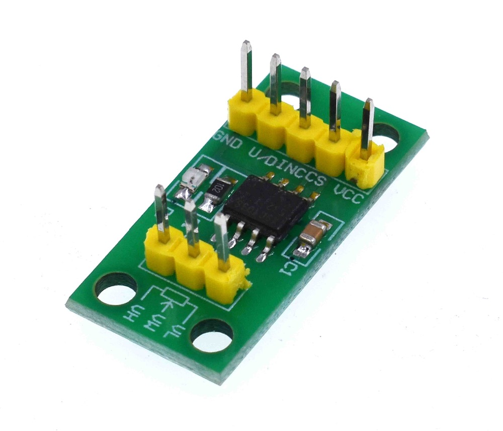 DC 3V-5V X9c103S Digital Potentiometer Module 10K Full Range Potentiometer Board