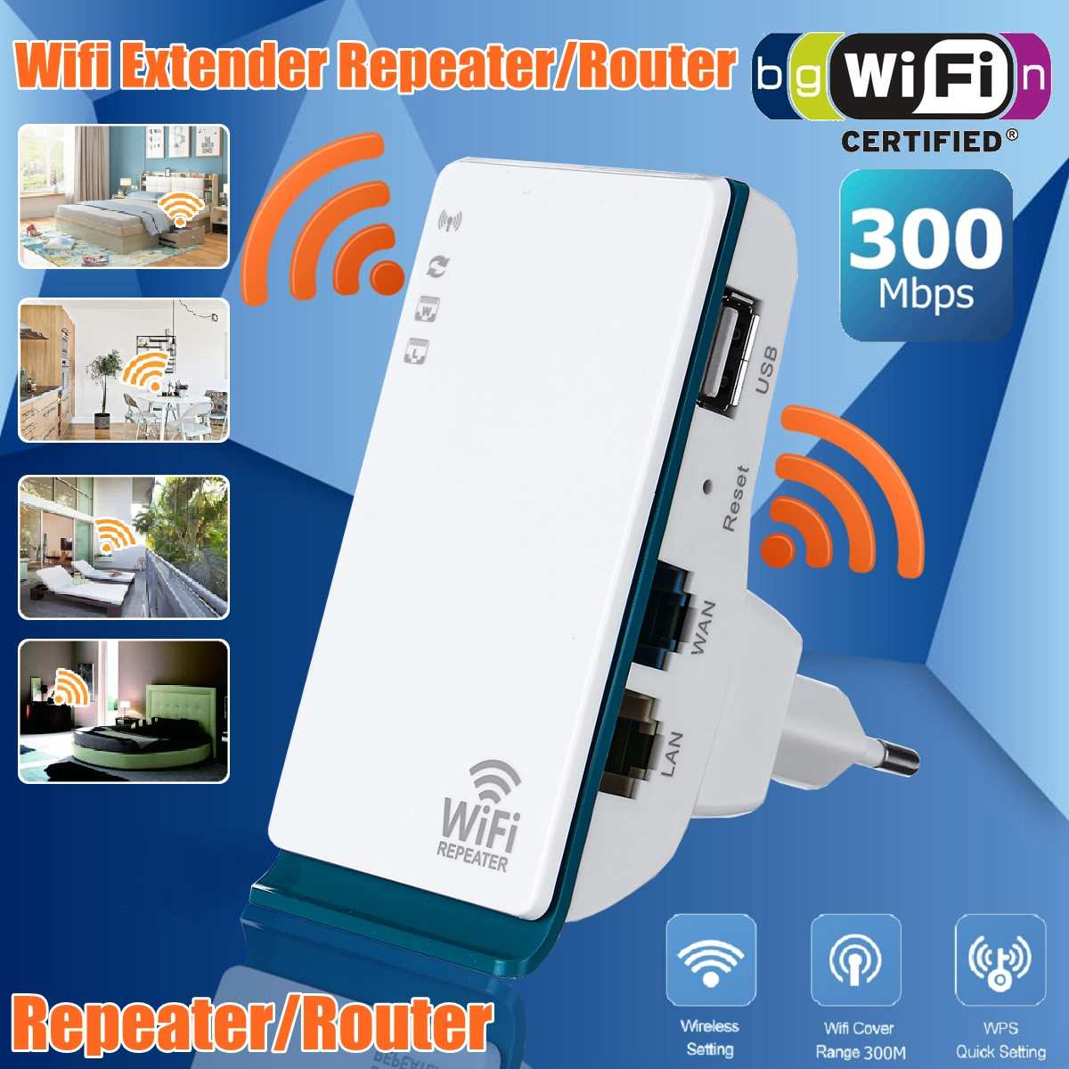 LEORY WIFI Repeater/Router/Access point 300Mbps Wireless Wi-Fi Range Extender wifi signal amplifier