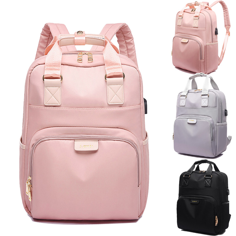 Waterproof Bagpack 13.3 14Inch Laptop Backpack with USB Charger Female Back Pack Bags for School Teenage Girl Backbag WomanWaterproof Bagpack 13.3 14Inch Laptop Backpack with USB Charger Female Back Pack Bags for School Teenage Girl Backbag Woman