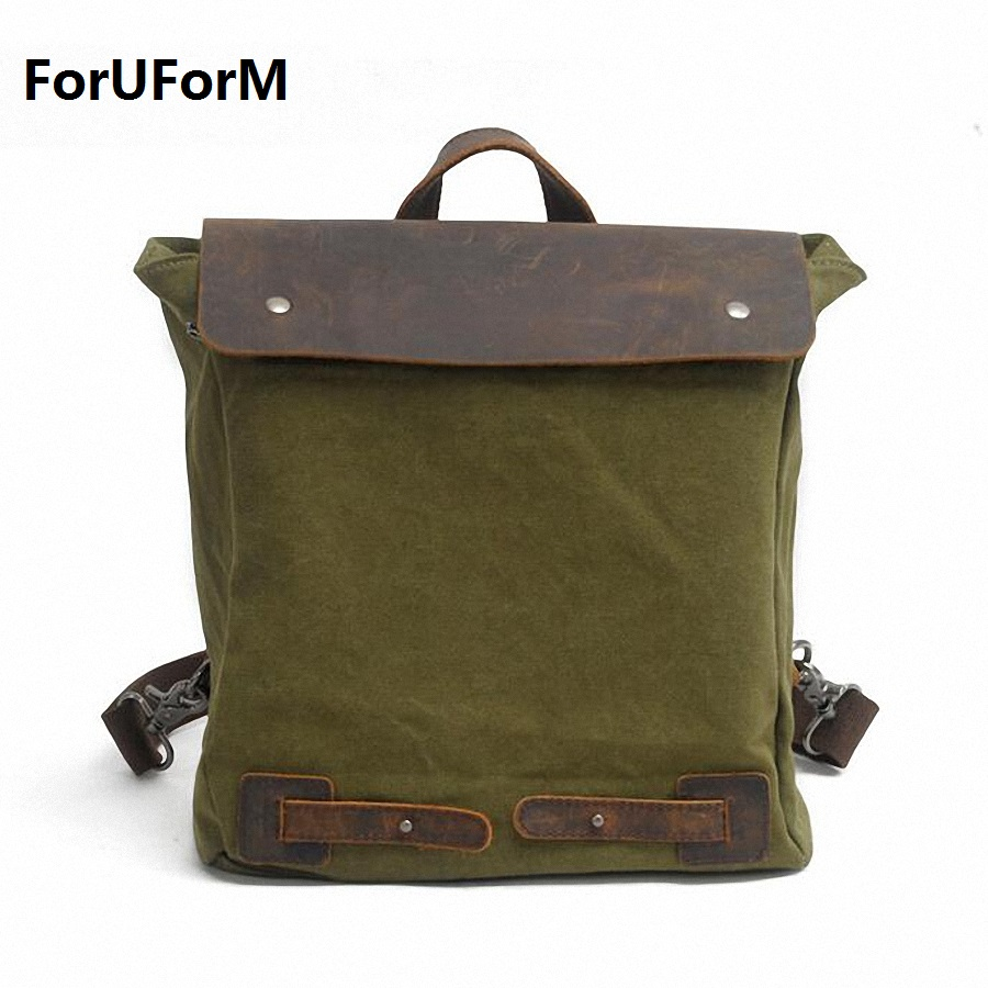 цена на New Vintage Men Canvas Backpack Fashion School Satchel Bags Casual Travel Rucksack Shoulder Bags bolsas mochila LI-1676