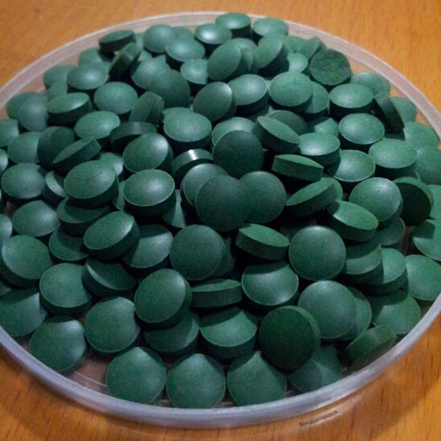 Natural Spirulina Tablets Pills Nutritious Spirulina Aquarium Anti-fatigue Anti-radiation Enhance-immune 100g