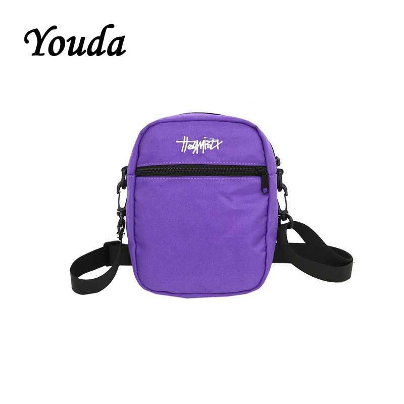 Youda Vrouwen Casual Eenvoudige Messenger Bag Hip Hop Stijl Dames Handtassen Mini Schoudertassen Paar Telefoon Pouch Meisjes Classic Tote