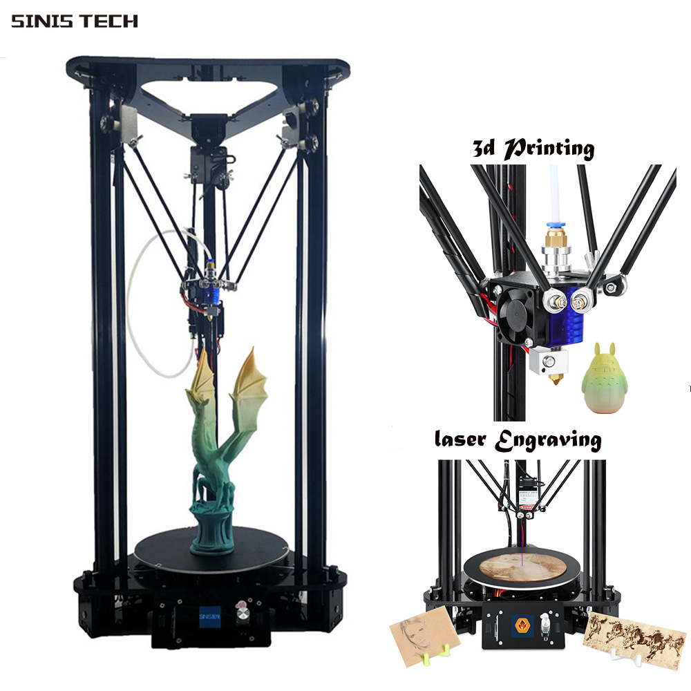 China Supplier Sinis MiNi 3D Color Laser Printer Machine with PLA ABS Filament Cheap Factory Price High Quality Fast Delivery