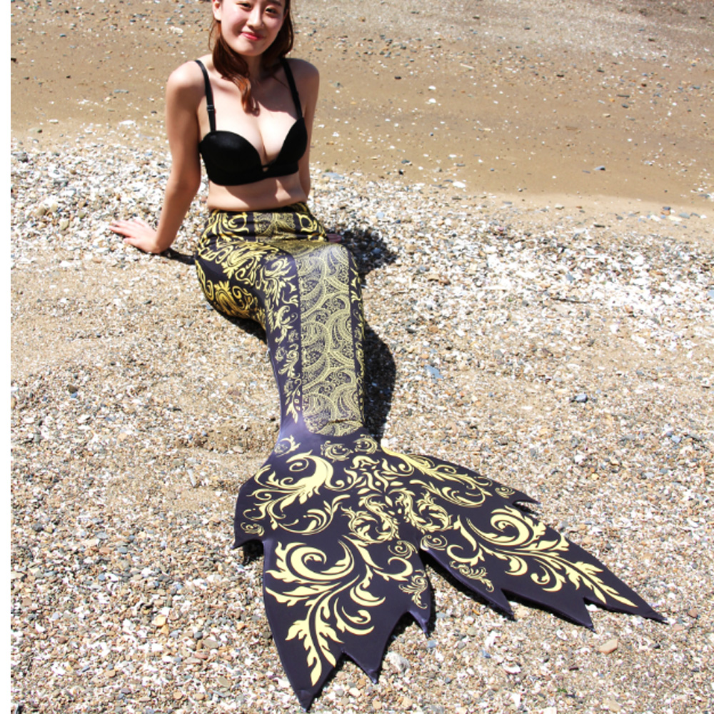 New Fashion Adults Mermaid Tail with Monofin for swimming Mermaid Cosplay Costume for Halloween Party Birthday Gifts