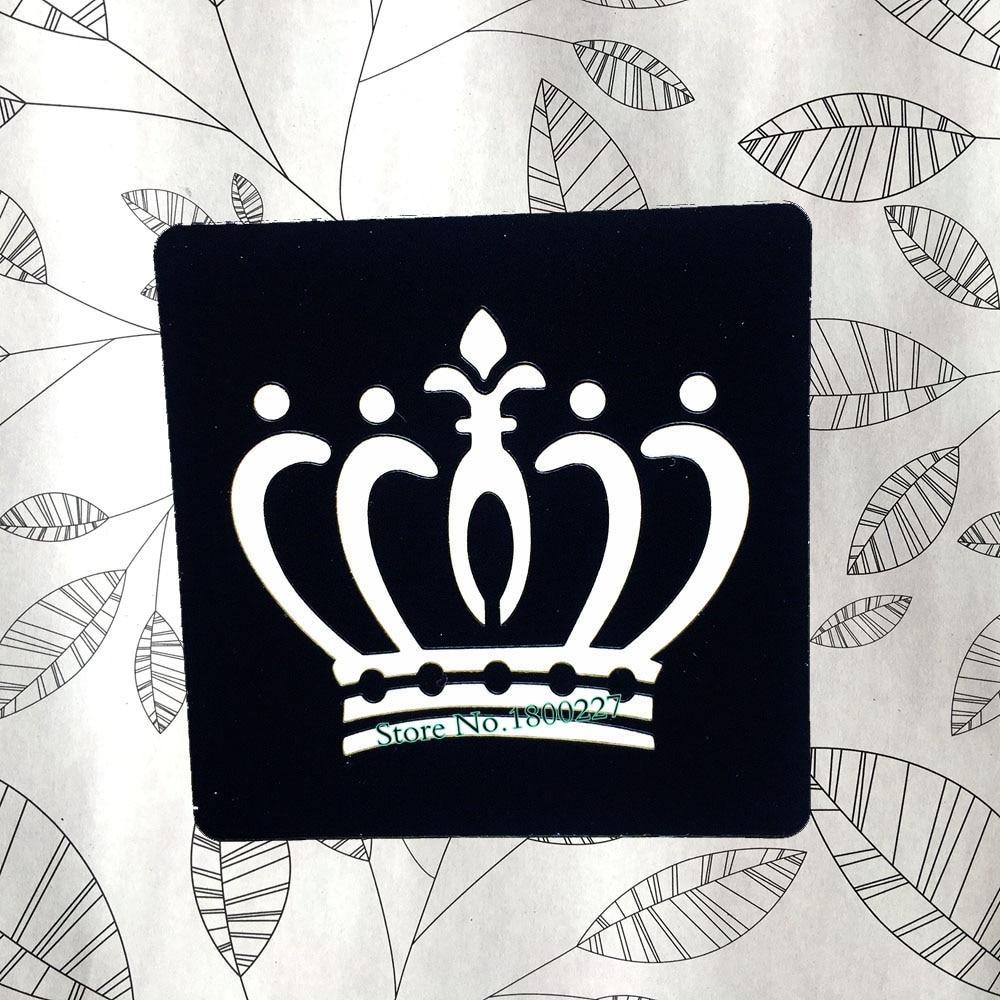 Henna Tattoo Zum Aufkleben : Indian queen crown waterproof henna tattoo stencils fake