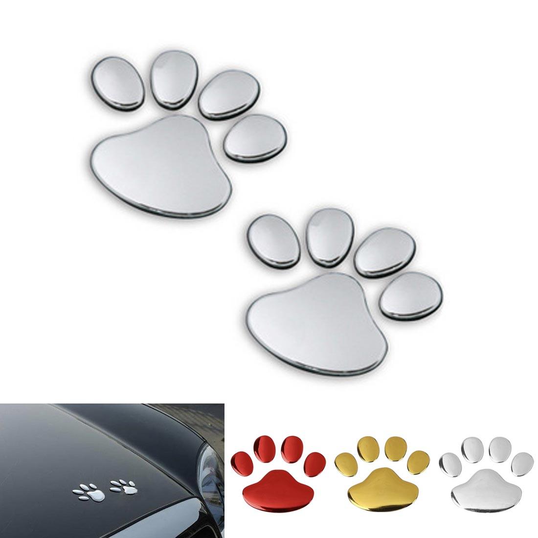 1 Paar Auto Aufkleber Hund Paw Footprint 3d Pvc Nick Abdeckung Aufkleber Auto Fahrzeug Automobil Styling Dekoration
