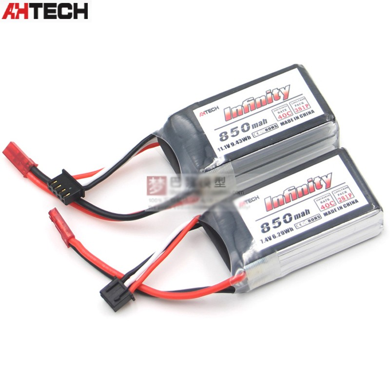 1pcs Infinity <font><b>2S</b></font> 3S 7.4V /11.1V <font><b>850mAh</b></font> 40C Graphene <font><b>LiPo</b></font> Battery W/ JST For RC Drone FPV Racing Multi Rotor Parts image