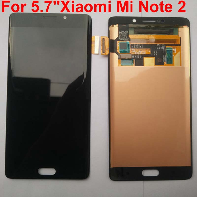 100 Original AMOLED for Xiaomi Mi Note 2 mi note2 LCD display 5 7 inch Touch