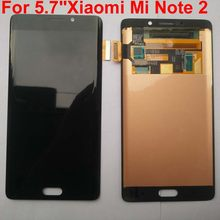 100% Original AMOLED for Xiaomi Mi Note 2 mi note2 LCD display 5.7 inch Touch Screen Digitizer Assembly Frame+tools(China)