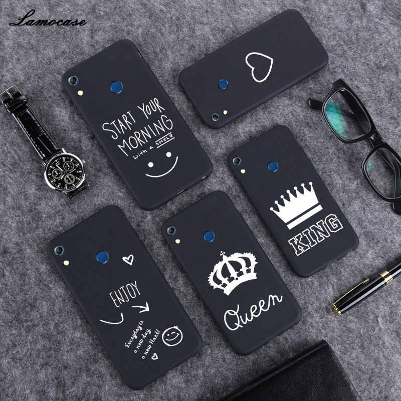 Lamocase Simple Black Matte Case For Huawei Honor 8A 8C 8X Max V8 8 Lite Art Line Patterned Fashion Quotes Funny Phone Cover