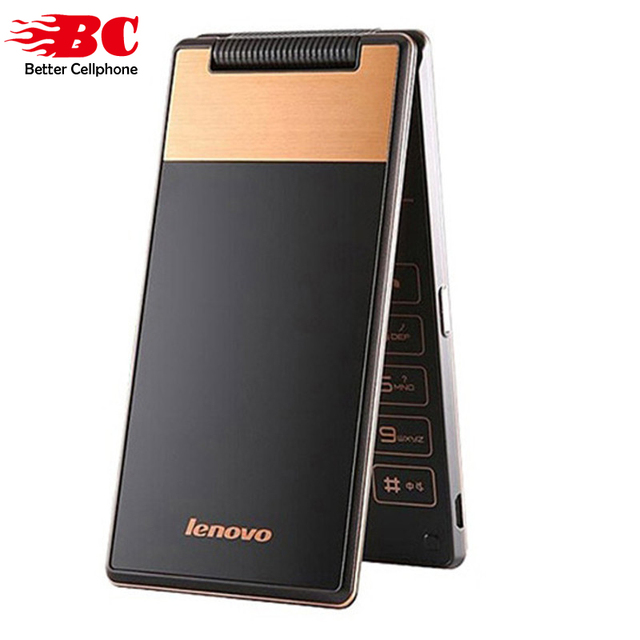 Оригинал Lenovo Android Флип Старый Телефон A588T MTK6582 Quad Core Смарт телефон 4 ГБ ROM Dual Sim 4.0 Дюймов 5MP Камера Русская Клавиатура