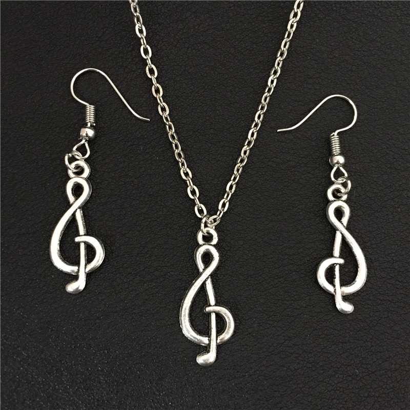2016 Trendy Musical Note Symbol Jewelry Necklace Sets For Women