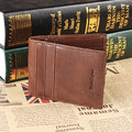 Luxury retro casual 100% Ruil authentic genuine leather leather men's short wallet coin purse Card ID Holders