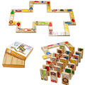 28pcs Baby Toy Wooden Toys Animal Domino Puzzles High Quality Educational Toys For Baby Birthday Gift