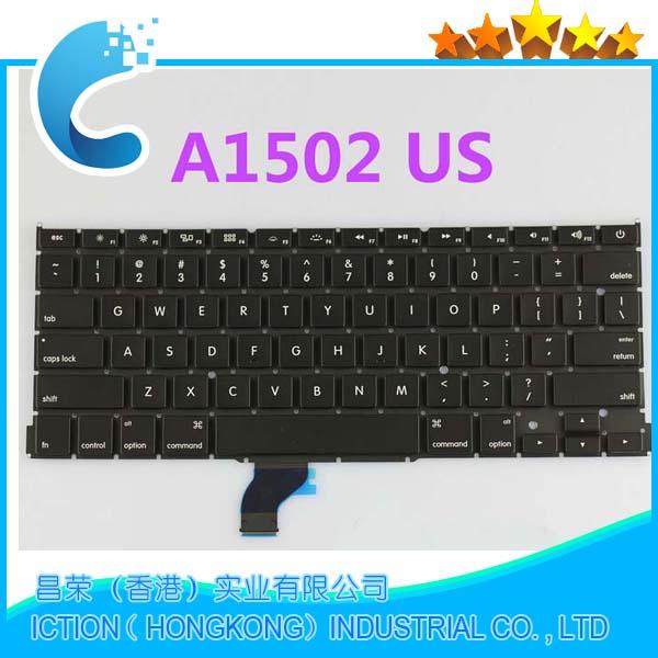 10pcs lot Original New A1502 US Keyboard For Apple Macbook Pro Retina 13 US Keyboard 2013