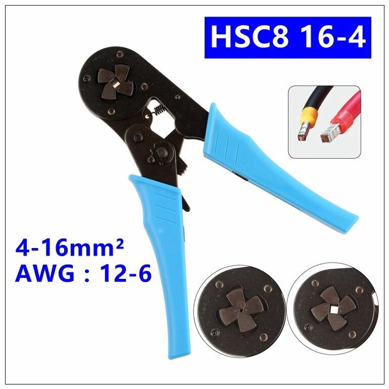 AWG 12-6 4-16mm2 Self-Adjustable Cable End-Sleeves Ferrules Crimper Piler