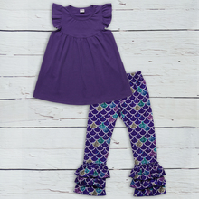 Baby Outfits Girls Boutique Clothing Set Ruffle Long Sleeves Dresses Kids Pants Children Clothes 2GK905 1292