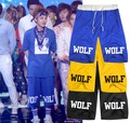 lovers Men Women casual pants knee HARAJUKU exo xoxo wolf men women dress pants k pop k-pop kpop do
