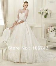free shipping 2013 new style hot sale Sexy bride sweet princess Custom size with trail high quality bow embroidery wedding dress цена