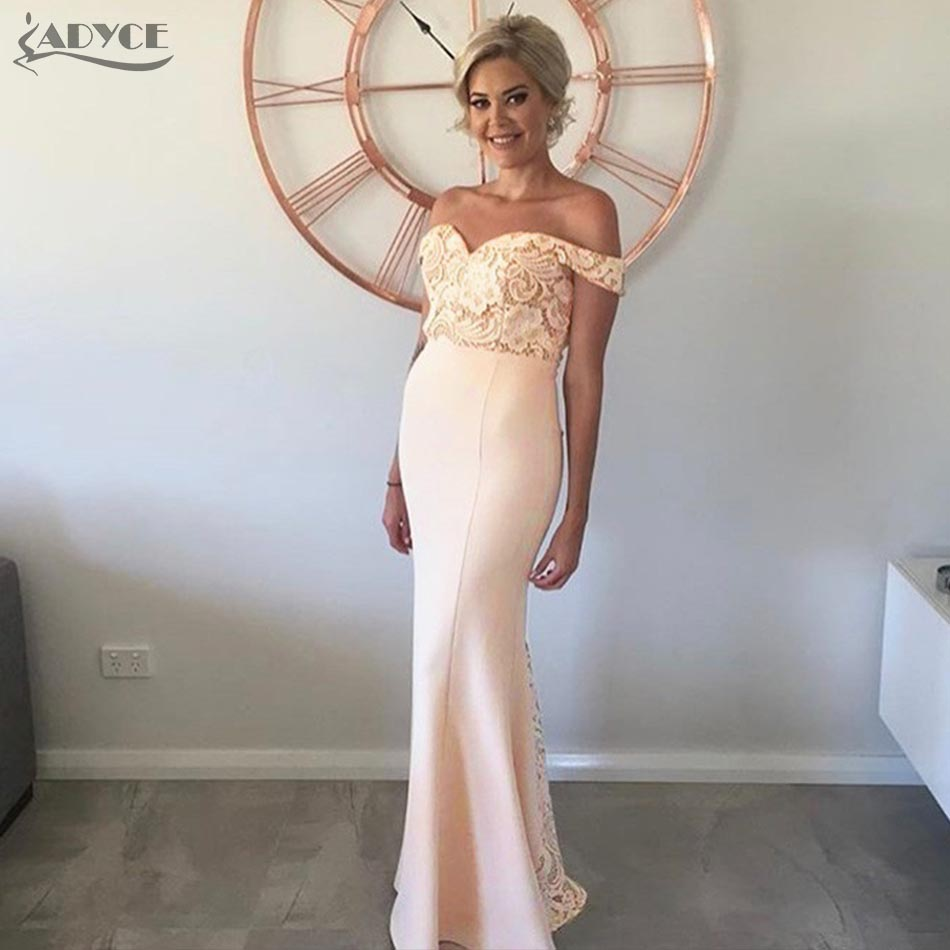 Adyce 2018 New Arrival Women Long Bandage Dress Apricot Strapless Lace Maxi Dresses Celebrity Party Dress Vestidos de festa adyce 2018 new arrival women long bandage dress apricot strapless lace maxi dresses celebrity party dress vestidos de festa
