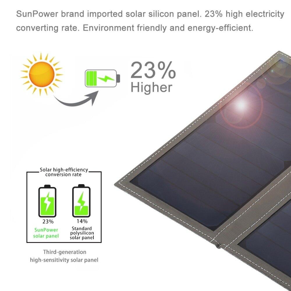 HAWEEL 14 Dobrável saco Carregador Solar À