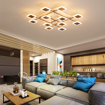 Omicron Modern LED Creative Chandeliers For Lighting For Bedroom Living Room Dining Room Iron Lustre Light Fixtures