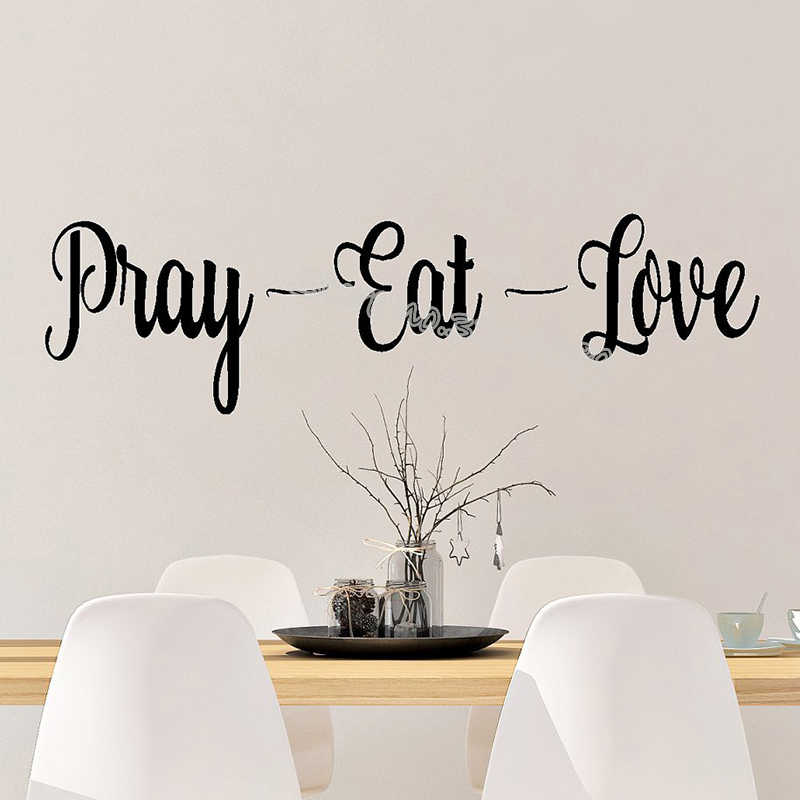 Pray Eat Love Quotations Wall Stickers