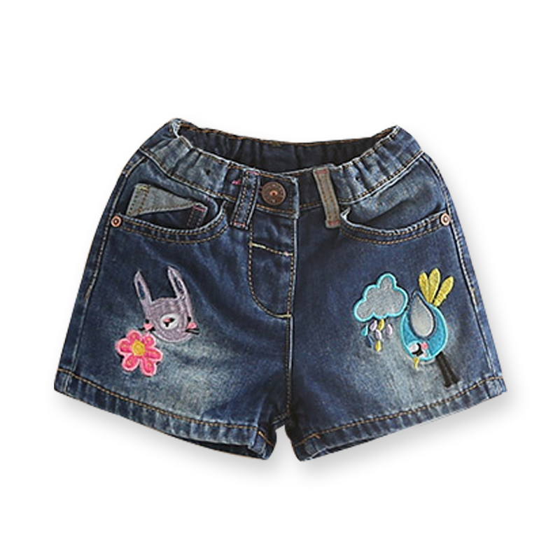 Letní džíny kraťasy pro dívky značky vyšívání děti - Dětské oblečení
