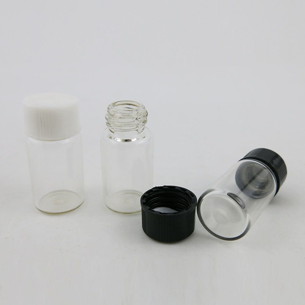 Купить с кэшбэком 100 x 3ml Glass Clear Small Medicine Bottles Transparent 3cc Sample Vials Laboratory Powder Reagent bottle Containers Screw Lids