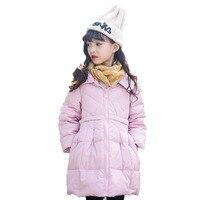 Winter Kids Coat Children Girls White Duck Down Jackets Baby Coat Kids Warm Outerwear Hooded Coat Snowsuit Overcoat Clothes E312
