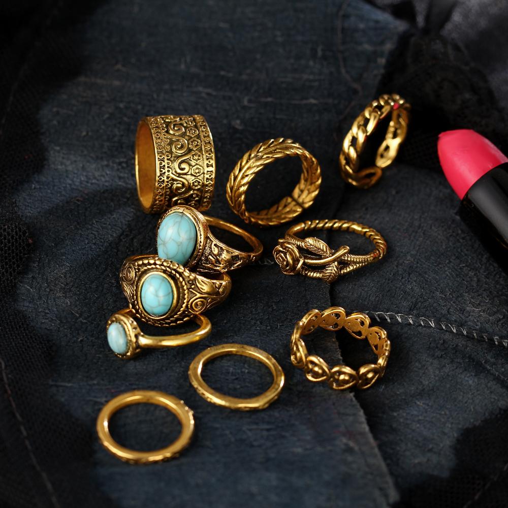 HTB1nIS8RXXXXXcEXXXXq6xXFXXXC 10-Pieces Vintage Tibetan Turquoise Knuckle Ring Set For Women - 2 Colors