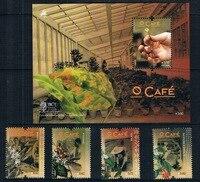 PT0108 Portugal Portuguese Speaking Countries Coffee Origin Stamp 4 2014 M New 0113