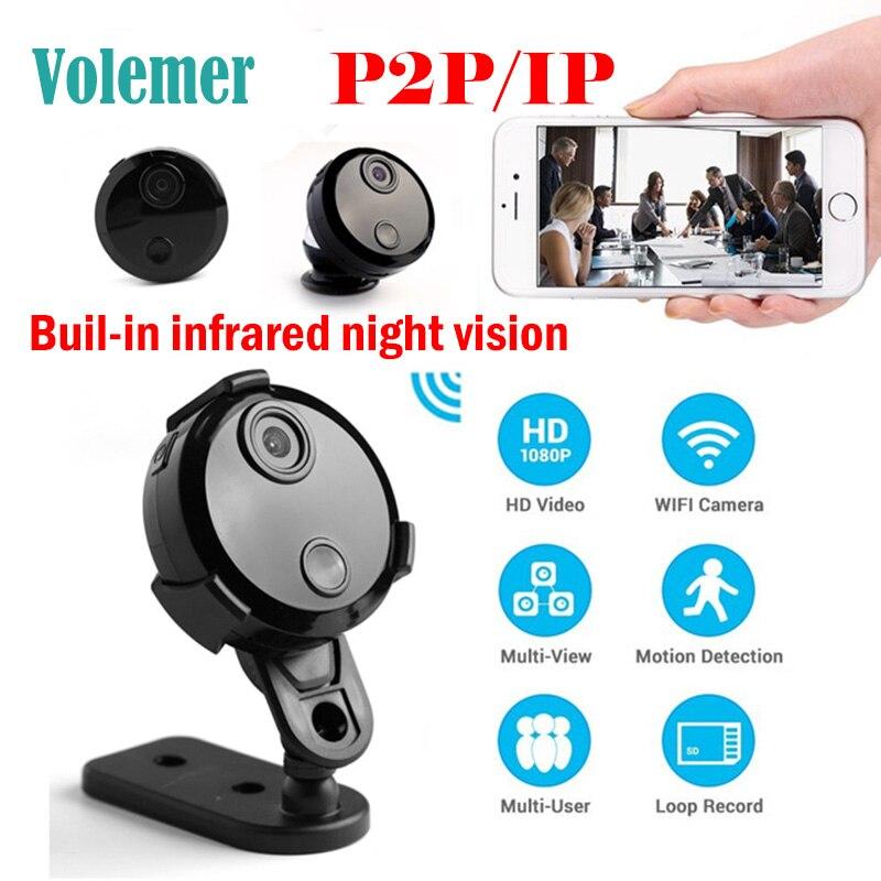Volemer HDQ15 Wifi small camera full HD 1080P Infrared Night Vision Monitor video Voice recorder DV cam P2P mini video camera