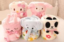 Plush roll blanket 1pc 95cm hello kitty Melody Elephant rabbit panda soft flannel office rest toy creative gift for kids baby