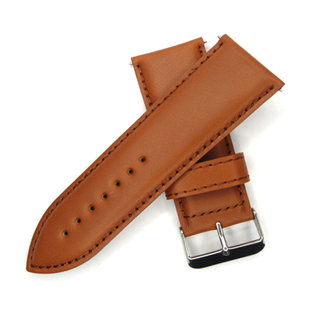 be6aa7a2eb3 30mm Watch band Light Coffee Large Size Vintage Italy Oiled Calf Genuine  Leather Watch Strap For