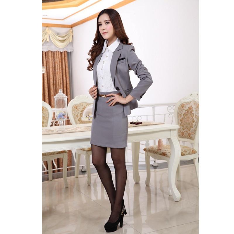 Las Office Skirt Suit New 2017 Uniform Designs Women Business