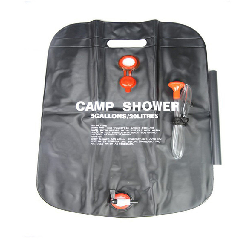 new high quality outdoor camping 20l outdoor camping solar shower bags portable outdoor bath bags