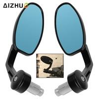 22MM Rear View Mirrors Handle Grips Bar End Mirror FOR yamaha YBR 125 YZF R15 R1 R3 MT03 MT25 MT 07 XP500 530 nmax xmax 300