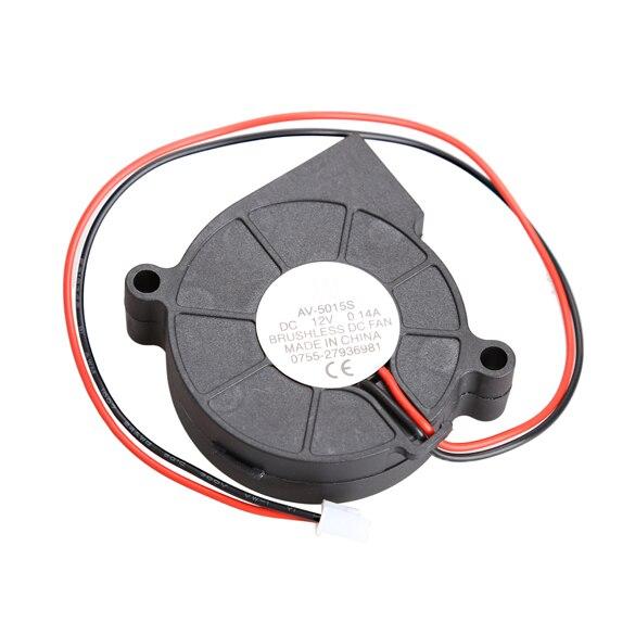 цены на New Hot Black Brushless DC Cooling Blower Fan 2 Wires 5015S 12V 0.14A 50x15mm High Quality QJY99 в интернет-магазинах
