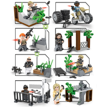 8pcs Military WW2 Special Forces Soldiers Building block army figures Weapon city Brick children toy Compatible with Legoings