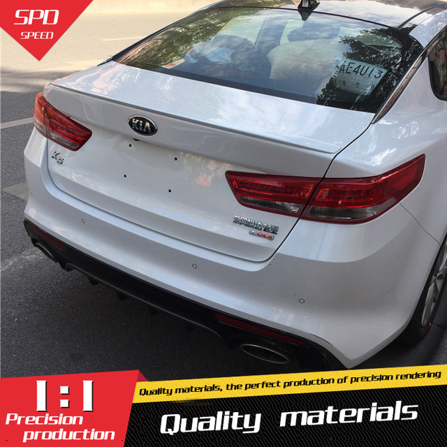 For Kia Optima K5 Spoiler High Quality Abs Material Car Rear Wing Primer Color