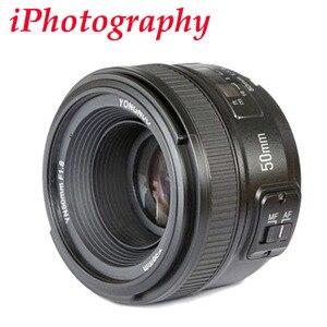YONGNUO YN 50mm f1.8 AF Lens YN50mm Aperture Auto Focus Large Aperture for Nikon DSLR Camera as AF-S 50mm 1.8G , YN35mm F2.0 F2N(China)