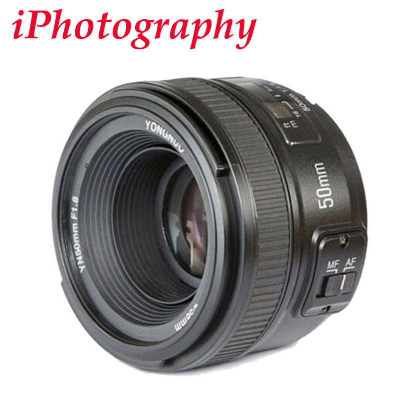 YONGNUO YN 50mm f1.8 AF lentille YN50mm ouverture mise au point automatique grande ouverture pour Nikon DSLR appareil photo comme AF-S 50mm 1.8G, YN35mm F2.0 F2N