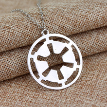 HANCHANG Popular Jewelry Hollow Star War Galactic Empire Necklace Round Pendant Necklace S