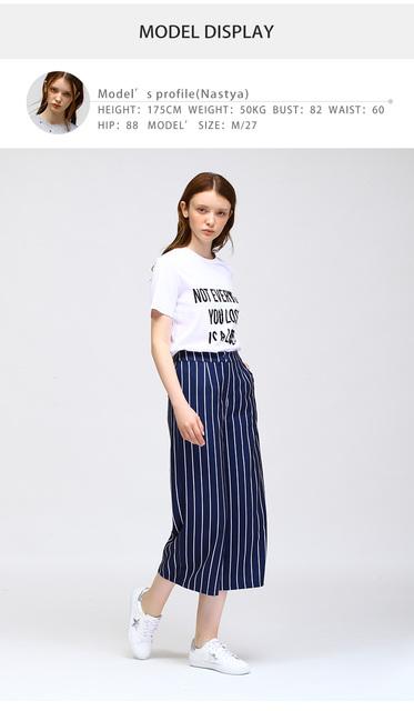 Slim Vertical Stripe Drape Women Loose Pants Casual Ninth Pants