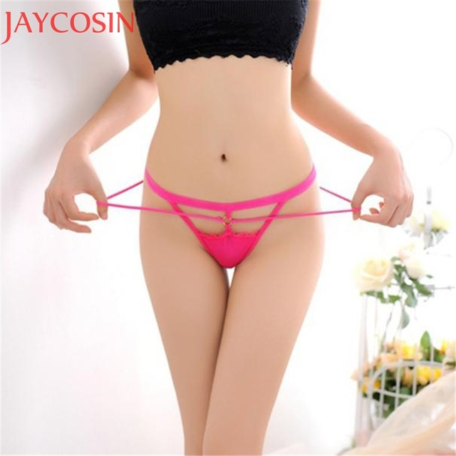 477c007f663 Women Sexy Lingerie Transparent Hollow Out Panties Lady Erotic Lace V-string  Briefs Thongs G-string Underwear Underpants Jan20
