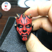 1/6 Scale Star Wars Solider Darth Maul Head Sculpt Male Head Carved Model For 12 Action Figures