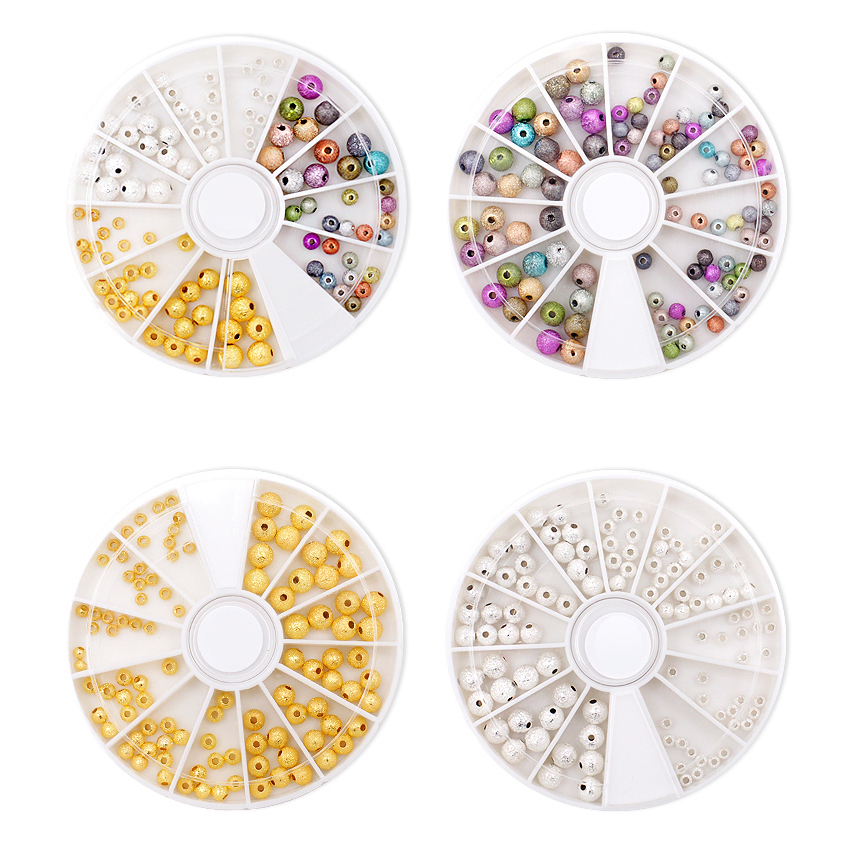 4 Trays Colorful Acrylic Nail Art Glitter Rhinestone Decoration+Wheel Nail Stones Glitter Ball D1099 2015 colorful acrylic nail glitter wheel glitter gold plated nail art jewelry women fingernail decoration supply wy165